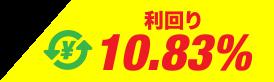 利回り10.83%