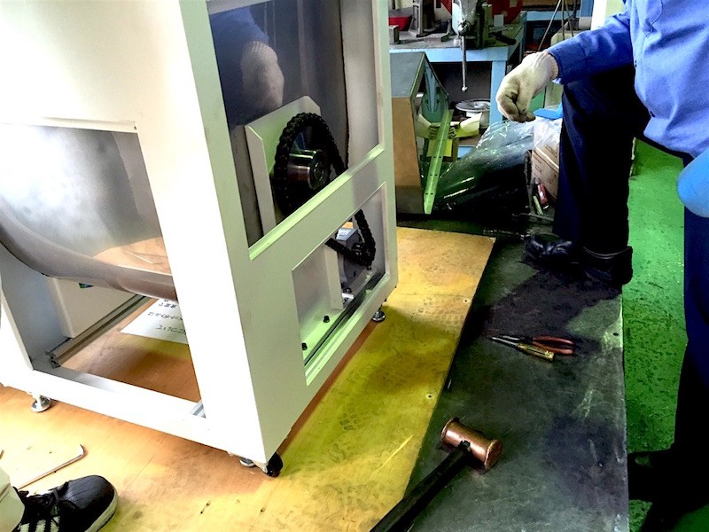 """業務用生ゴミ処理機 新型10kg機 機械開発 """"その4"""""""