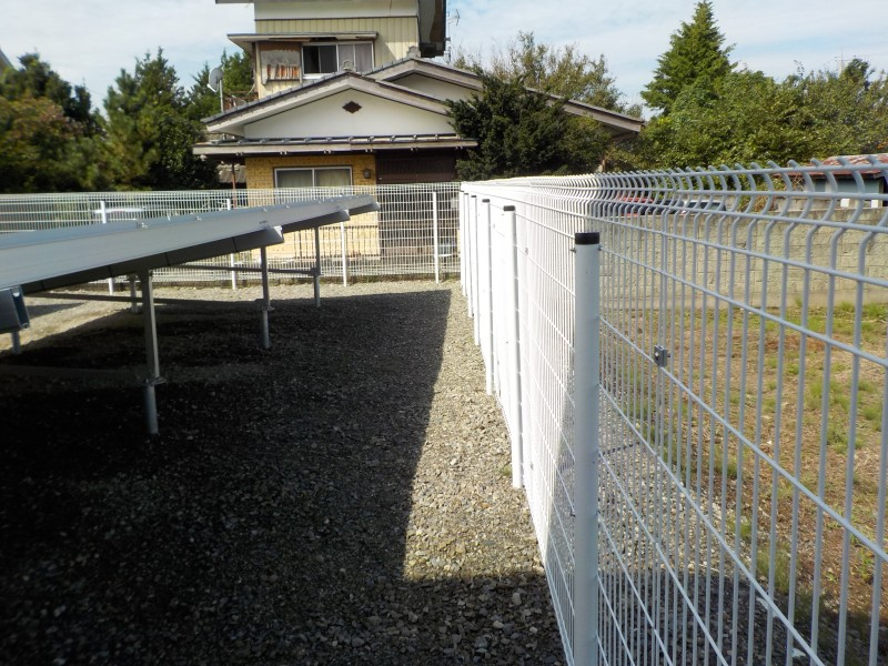 【その4】フェンスの設置